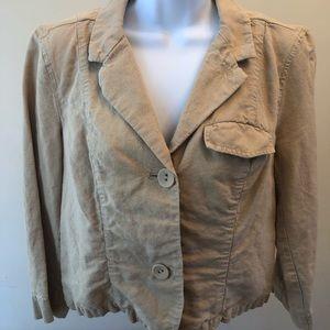 Light brown linen jacket